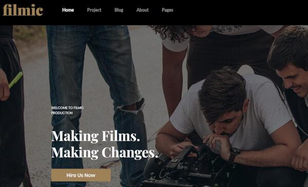 21. Filmic – Mobile optimized WordPress Theme