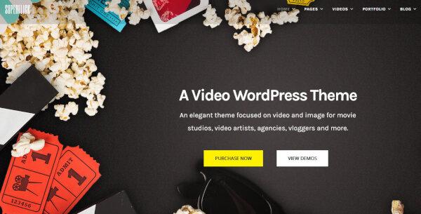 22. Superflick – MailChimp Ready WordPress Theme