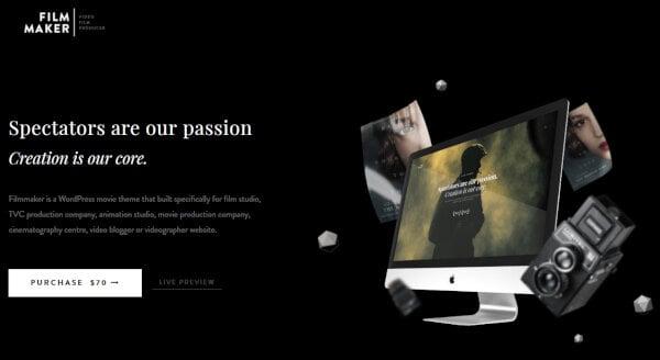 5. FilmMaker- Parallax Animation WordPress Theme
