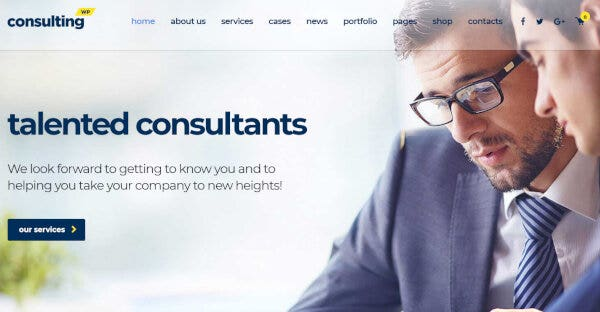 10. Consulting- Retina Ready WordPress Theme
