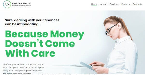2. Financial Advisor - Responsive WordPress Theme