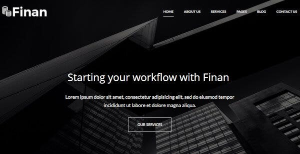 11. Finan – Mobile Friendly WordPress Themes