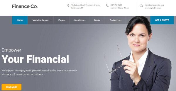 22. Finance – Multi Layout WordPress Themes