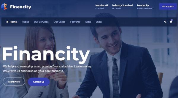 8. Financity - Mobile-friendly WordPress theme