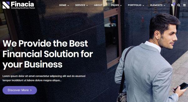 3. Financia – W3 Valid WordPress Theme