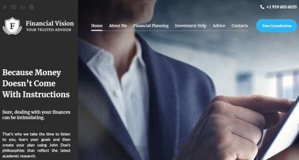 1. Financial Vision - WPML ready WordPress Theme