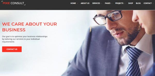 17. Pixie Consulting – Visual Composer Powered WordPress Theme