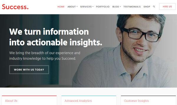 9. Success - SEO Friendly WordPress Theme