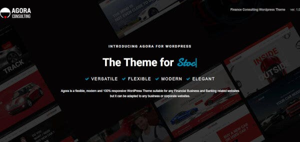 13. Agora- Social Media Integrated Financial WordPress Theme