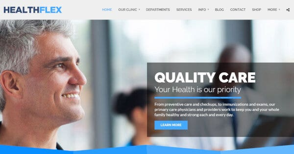 HEALTHFLEX Doctor – Reliable Ninja Support WP Theme