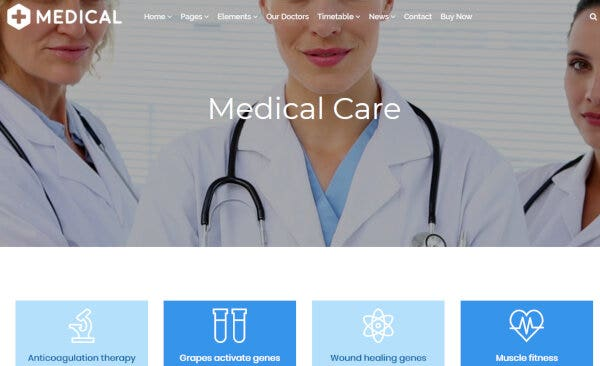 Medical – Google Fonts Integrated WP Theme