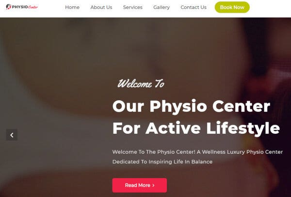 PhysioCenter – Contact Form Integrated WP Theme