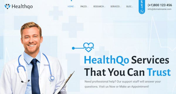 Healthqo – Powerful Admin Panel WP Theme