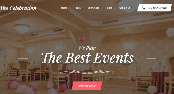 Banquet Hall– SEO Friendly WordPress Theme