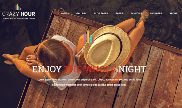 13. Crazy Hour – Cross-Browser Compatible WordPress Theme