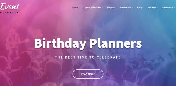 Event Planners Pro – Multi-Browser Compatible WordPress Theme