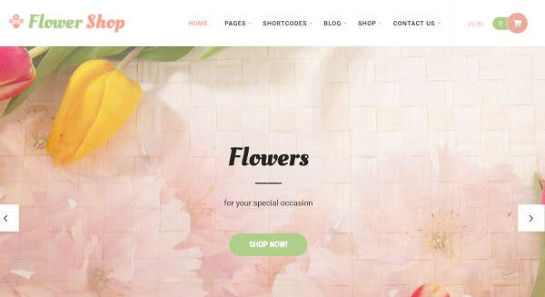 Flower Shop – SMO Friendly WordPress Theme