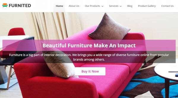 Furniture Store – Parallax Image Integrated WP Theme