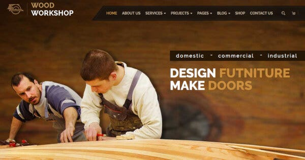 Wood Workshop – Visual Composer WordPress Theme