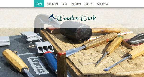 Wooden Work – Lead Capture form Compatible WP Theme