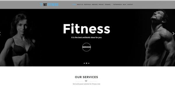 NT Fitness – LayersWP WordPress Theme