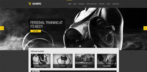 Olympic – HTML5 + CSS3 WordPress Theme