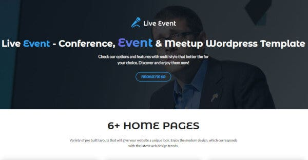 3. LiveEvent- Education WordPress Theme