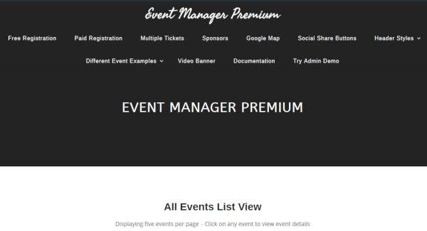 8. Event Manager – Payments Settings WordPress Theme