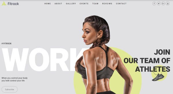 Fitrock – Graphic-Based WordPress Theme