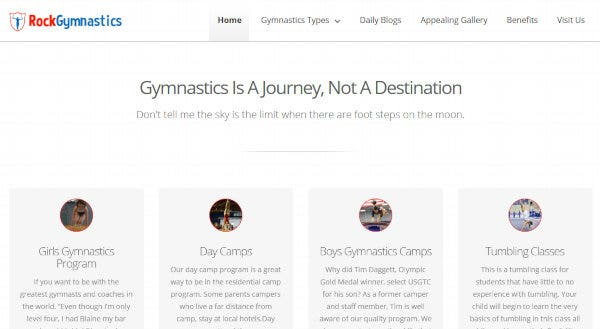 Rock Gymnastics – CSS WordPress Theme