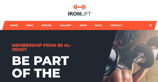 IronLift – Color Customization WordPress Theme