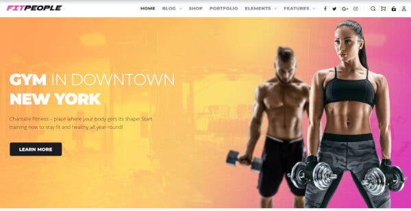 FitPeople - Fitness Elementor WordPress Theme