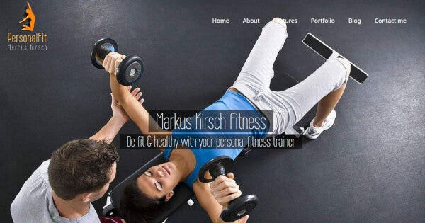 PersonalFit - Parallax WordPress Theme