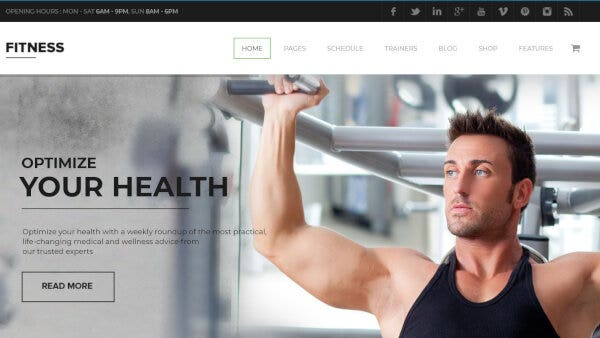 Gym - Revolution Slider WordPress Theme