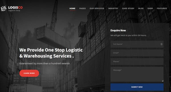 Trucking/Logistics WordPress Themes & Templates | Free & Premium