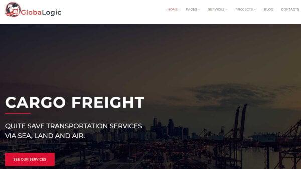 GlobaLogic – Logistic WordPress Theme