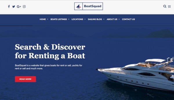 Boatsquad -Animation Supported WordPress Theme