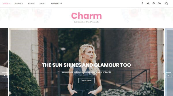 Charm -Google Font Integrated WordPress Theme
