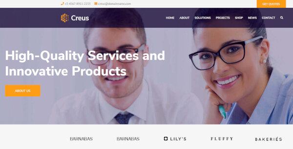 Creus – Parallax Background Supported WordPress Theme