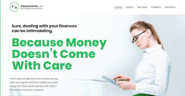 Financial Advisor -Well Documented WordPress Theme