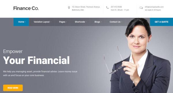 Finance -Slider Featured WordPress Theme