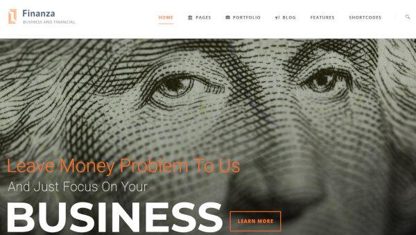 Finanza -Master Slider Featured WordPress Theme