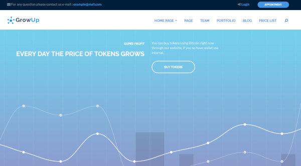 Growup - Finance Widget Featured WordPress Theme