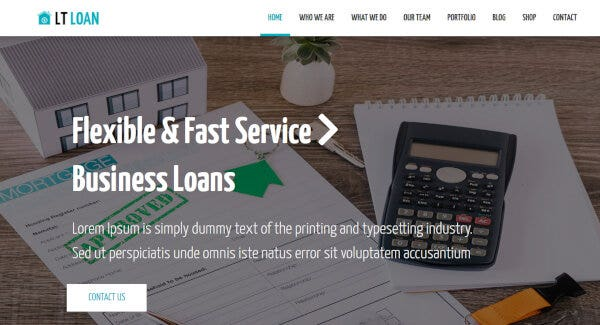 LT Loan -WooCommerce Compatible WordPress Theme