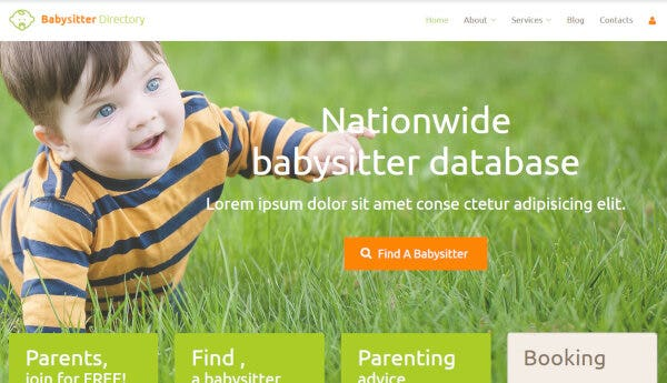Babysitter – ShortCodes Ready WordPress Theme