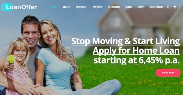 Business Loan - Banking & finance WordPress theme