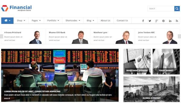 SW Financial -Google Fonts Integrated WordPress Theme