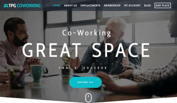 TPG Co Working Space - Genesis Framework Powered WordPress Theme