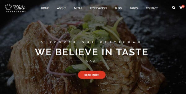 Chili -Quick Loading WordPress Theme