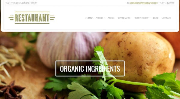 Restaurant – Gravity Forms Compatible WordPress Theme